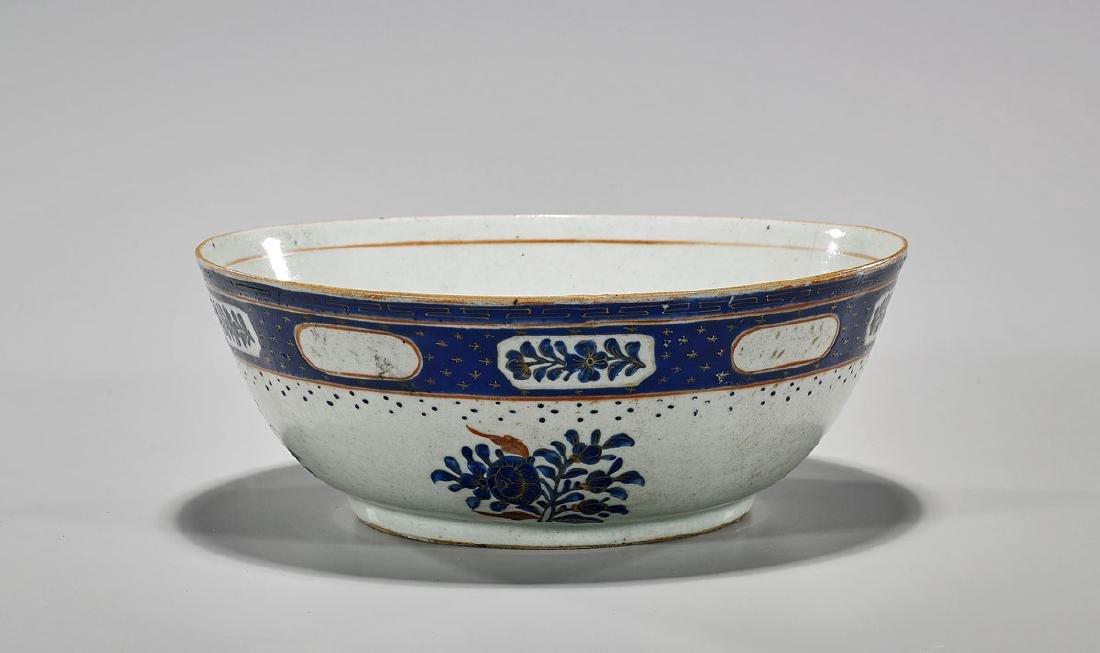 Antique Chinese Enameled Export Porcelain Bowl