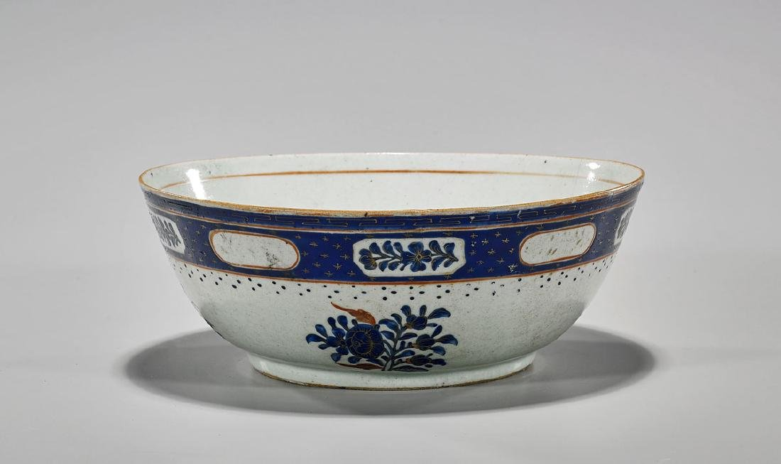Antique Chinese Enameled Export Porcelain Bowl