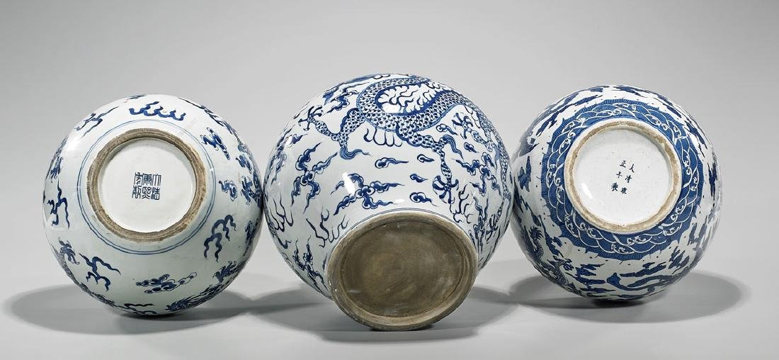 Group of Three Chinese Blue & White Porcelains - 2