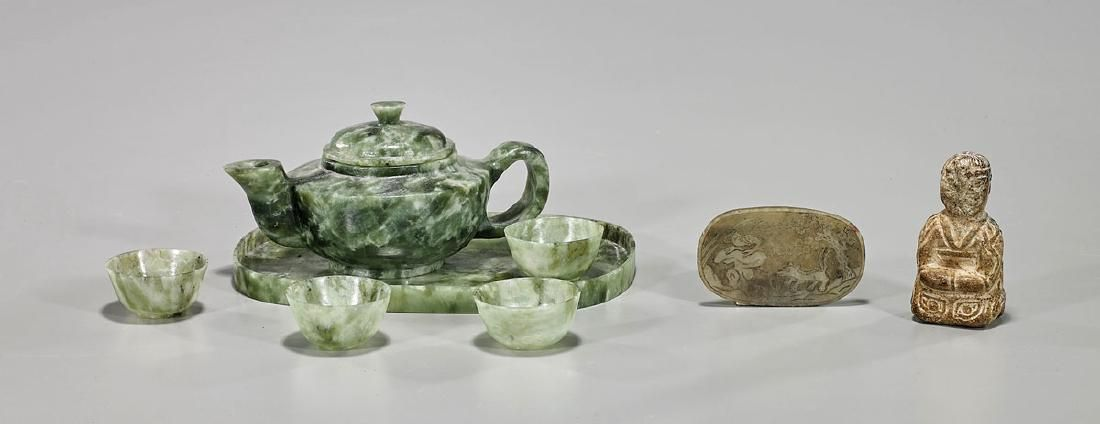 Group of Eight Various Chinese Hardstone Pieces