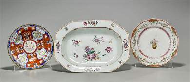 Group of Three Various Chinese Enameled Porcelain
