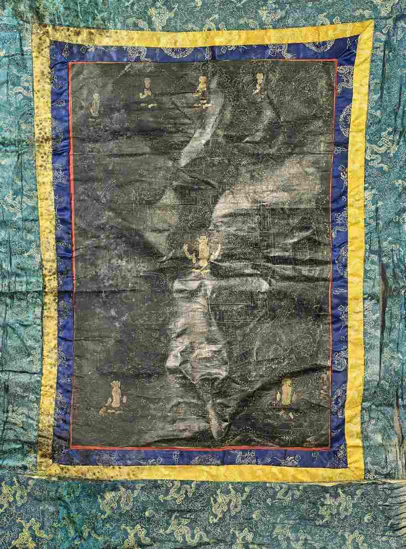 Antique Sino-Tibetan Painted Thangka