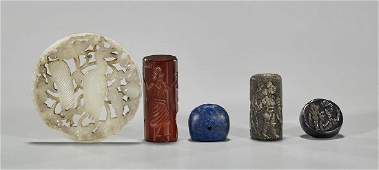 Group of Five Small Various Chinese Carved Items