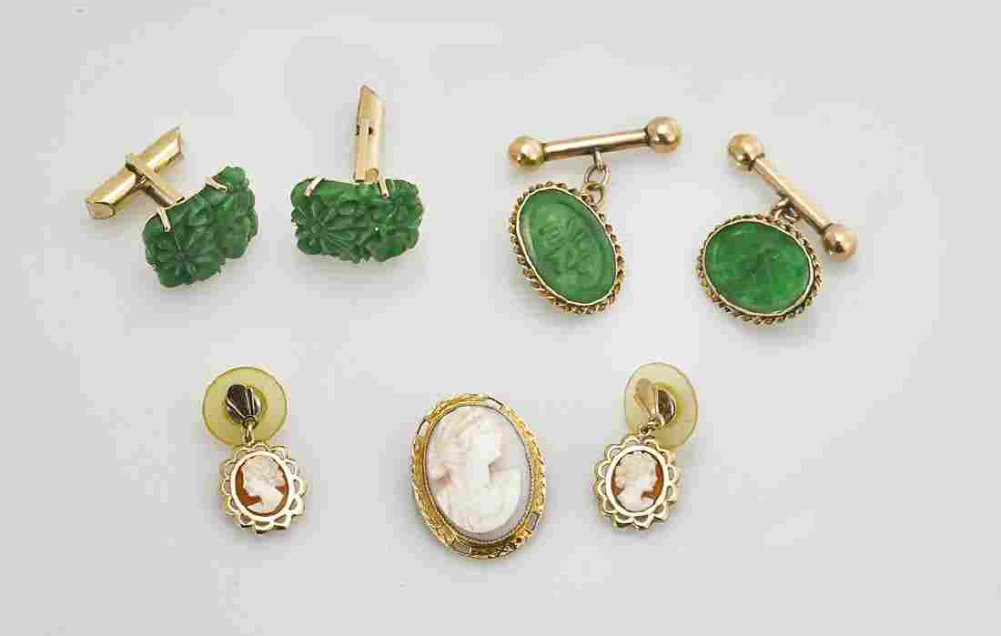 Group of Various Yellow Gold & Gold Plated Jewelry