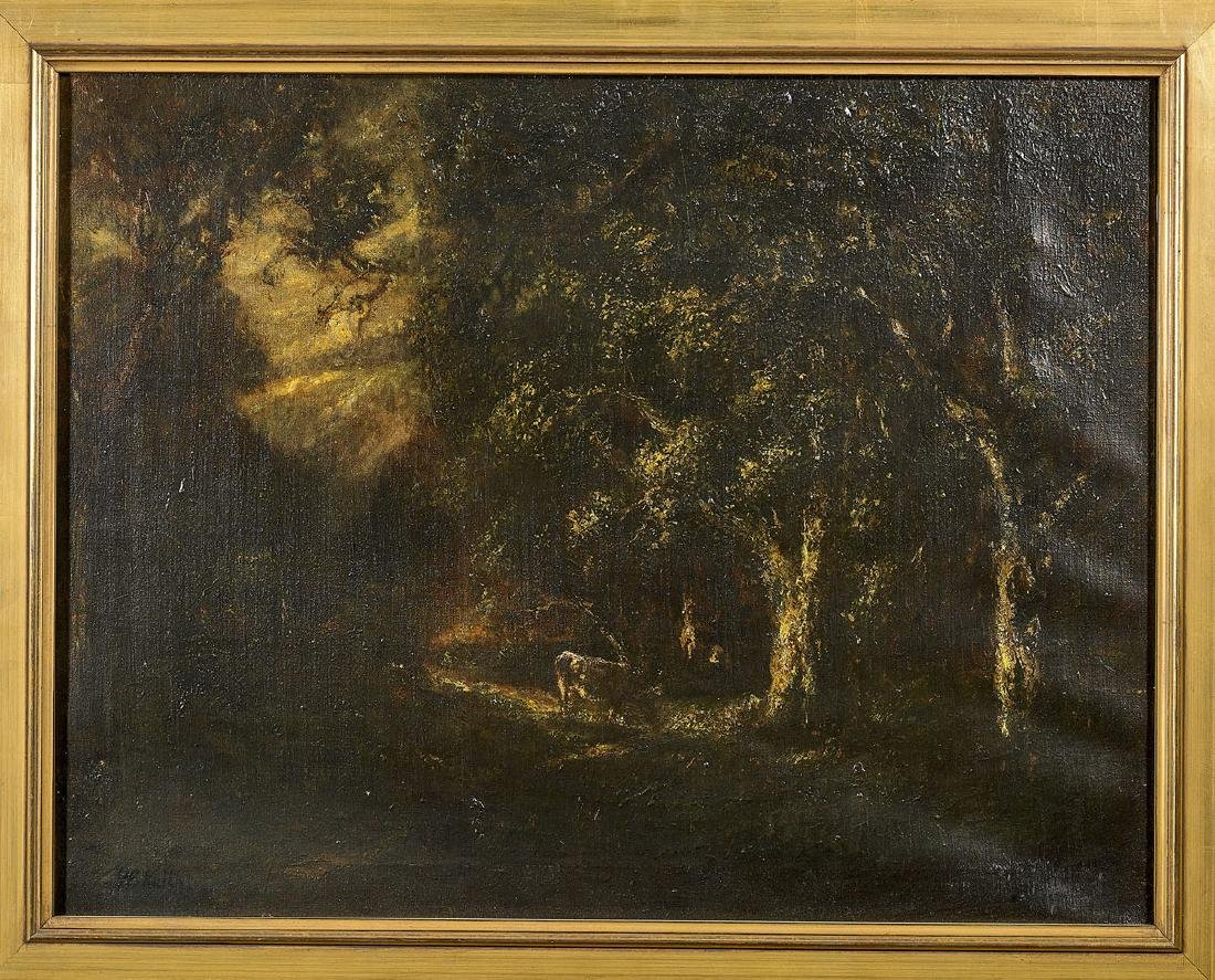 Oil on Canvas Painting Attributed To William Keith