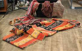 Group of Five Various Textiles