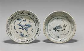 TWO ANTIQUE VIETNAMESE PORCELAIN DISHES