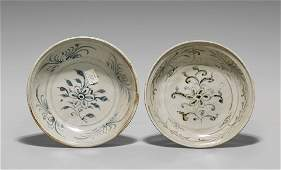 TWO ANTIQUE SHIPWRECK PORCELAIN DISHES