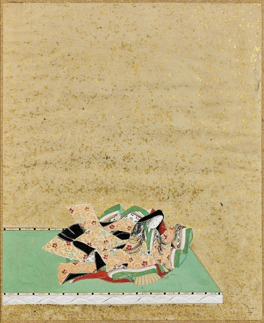 ANTIQUE JAPANESE PAINTING ATTRIBUTED TO MITSUSADA