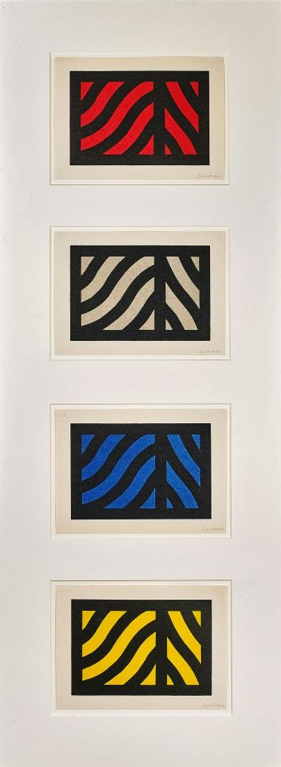 SERIES OF FOUR PRINTS BY SOL LEWITT: Curvy Bands