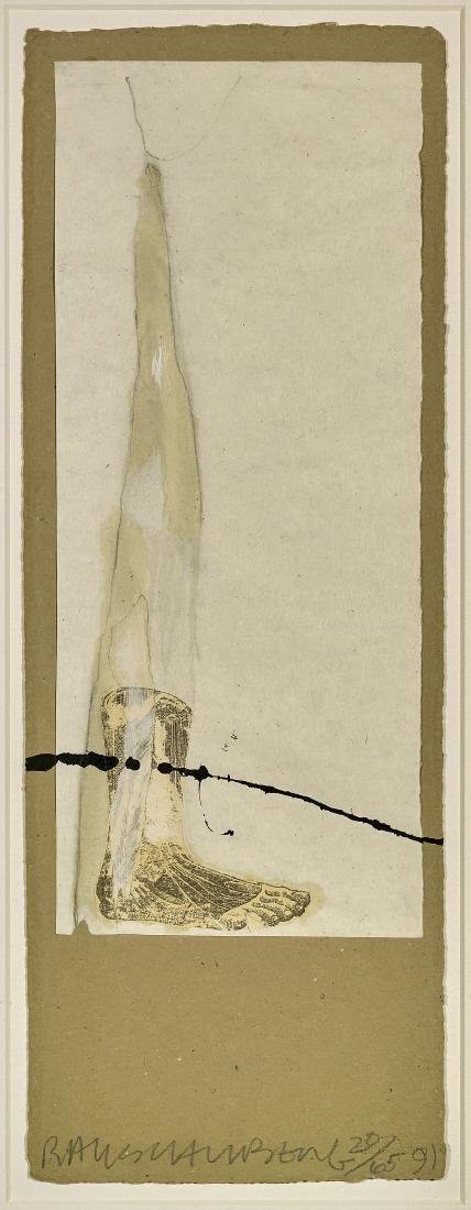 MIXED MEDIA PRINT BY RAUSCHENBERG: Untitled -