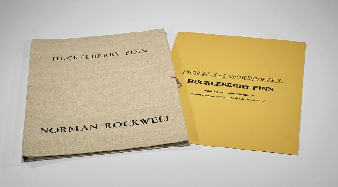 'HUCKLEBERRY FINN' COMPLETE FOLIO BY NORMAN ROCKWELL