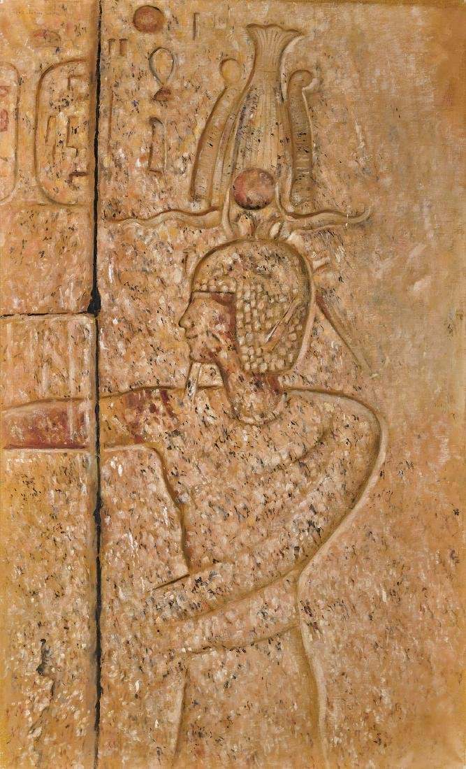 OIL PAINTING BY JOSEPH LINDON SMITH: Relief at Karnak