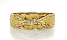 CARRERA Y CARRERA DIAMOND & 18K GOLD 'PANTHER' BANGLE