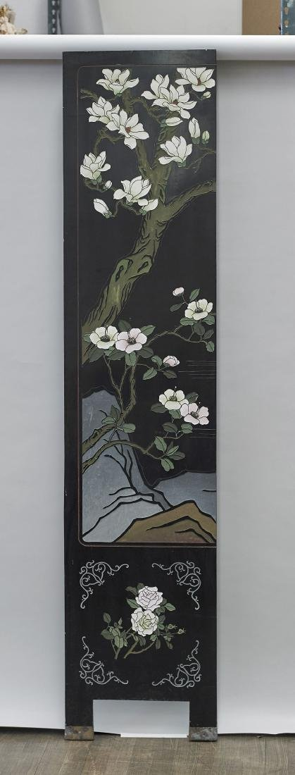 Chinese Carved & Lacquered Wood Panel