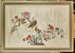 Large Old Chinese Silk Embroidery