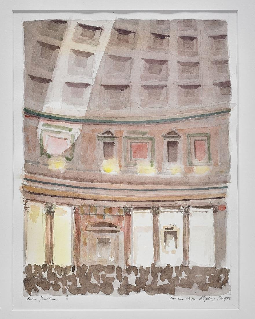 Two Watercolor & Ink Sketches By Stephen Harby