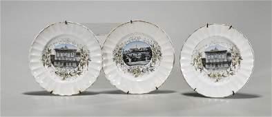 Three Antique Porcelain Dishes