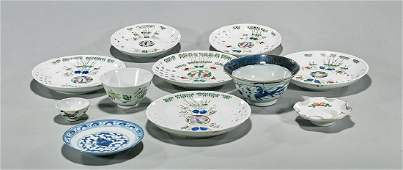 Group of Eleven Antique Chinese Porcelains