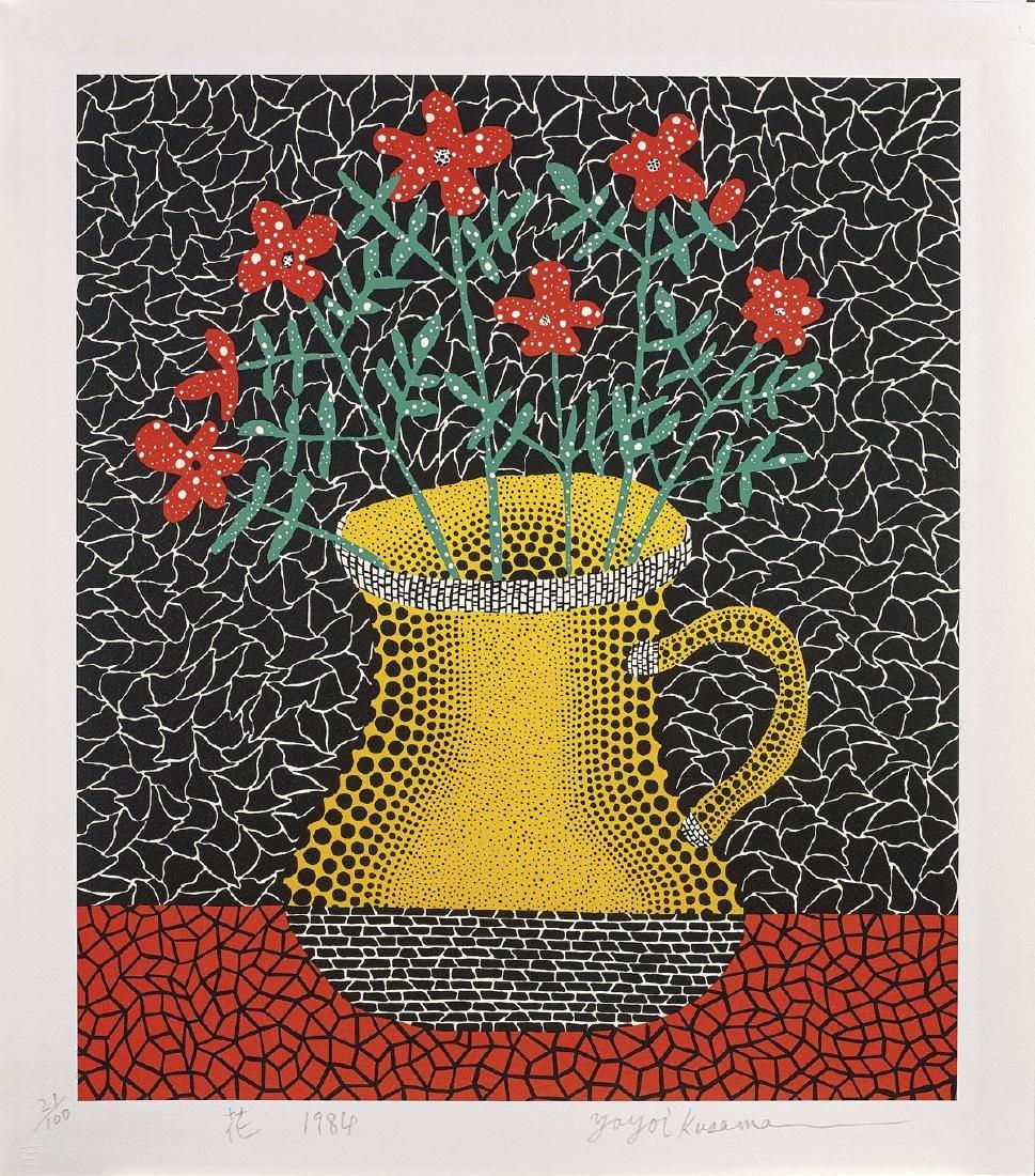 SCREENPRINT BY YAYOI KUSAMA: Flowers, 1984