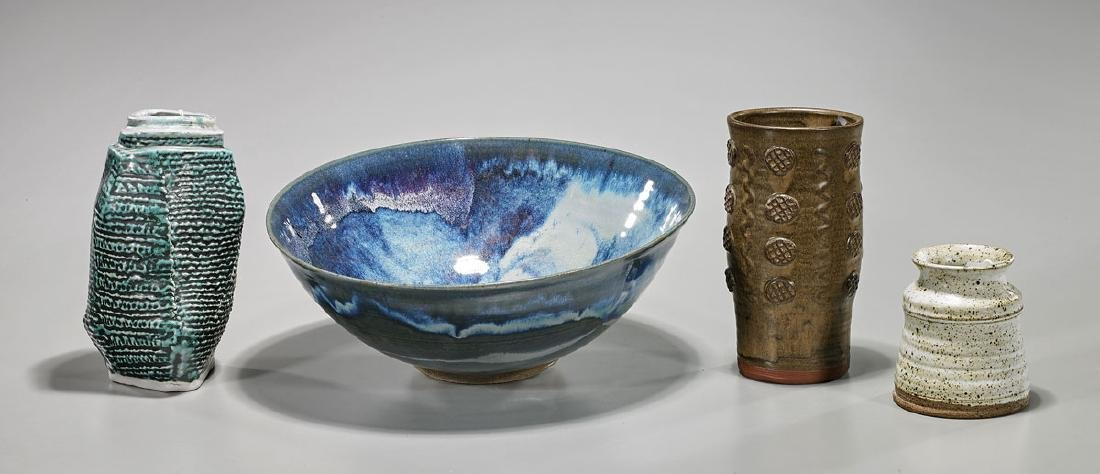 Four Studio Pottery Pieces