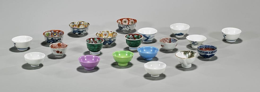 Group of Twenty Old & Antique Japanese Porcelain Sake
