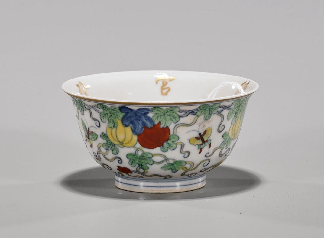 Chinese Ming-Style Doucai Enameled Porcelain Cup
