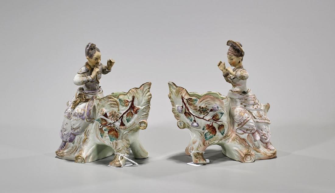 Pair of Ardalt Figural Porcelain 'Nodder' Vessels