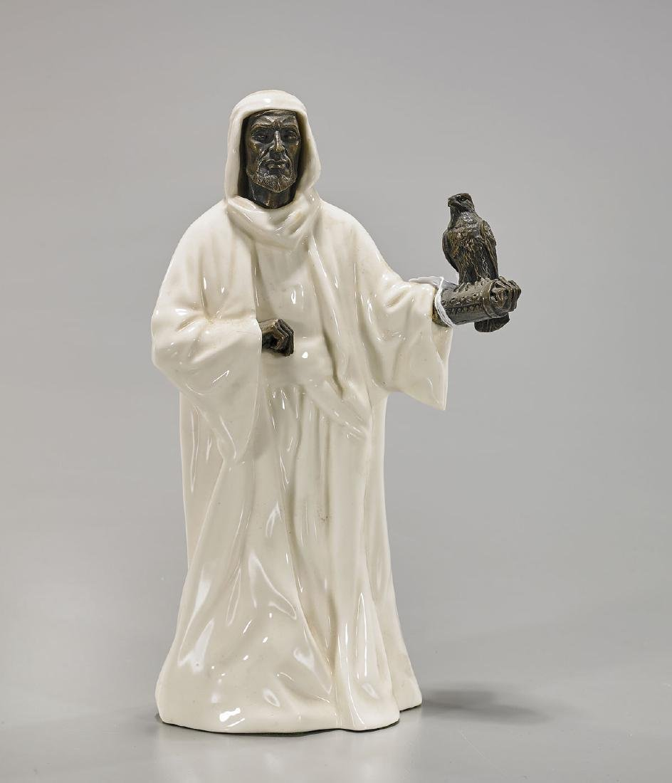 Minton Porcelain & Bronze Figure of a 'Sheikh'