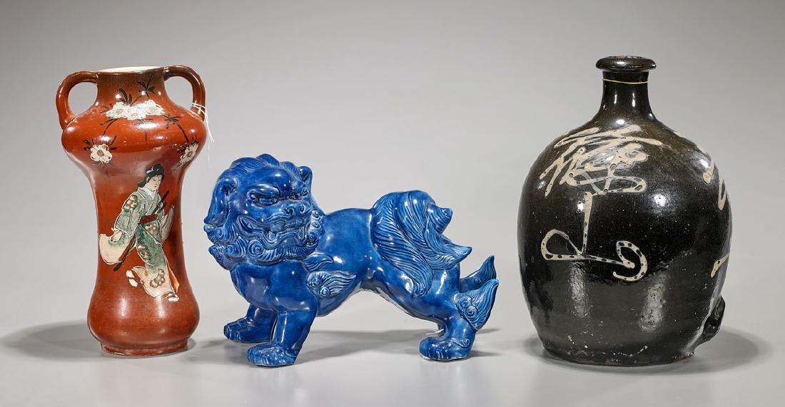 Three Various Chinese & Japanese Ceramics