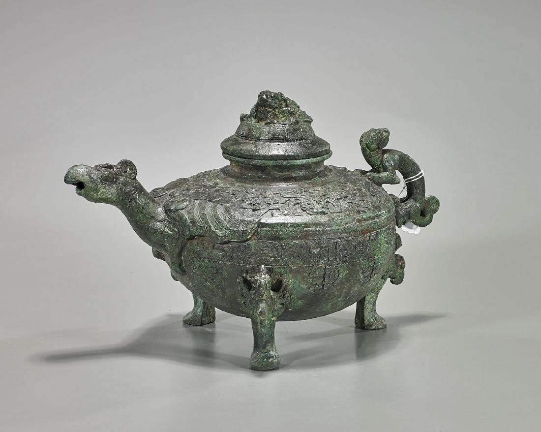 Chinese Archaistic Bronze Covered He