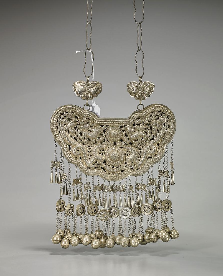 Elaborate Chinese Metalwork Necklace