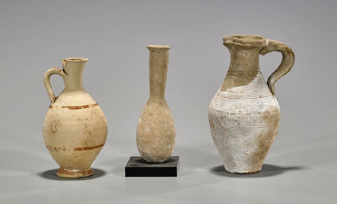 Group of Three Pottery Vessels