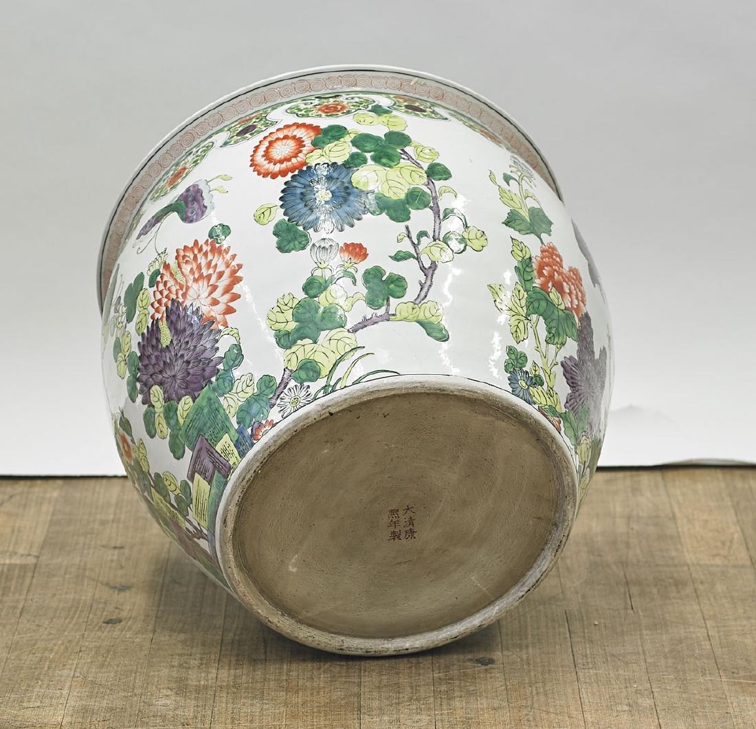 Chinese Famille Verte Enameled Porcelain Jardiniere - 2