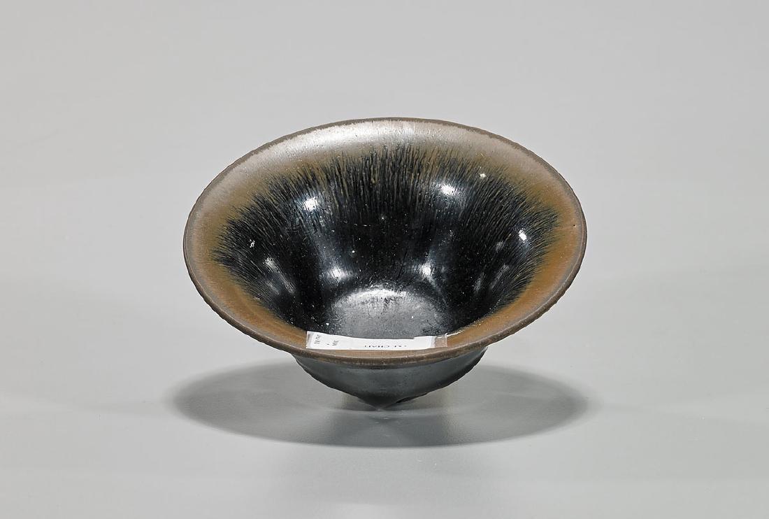 Song-Style 'Hare's Fur' Glazed Tea Bowl