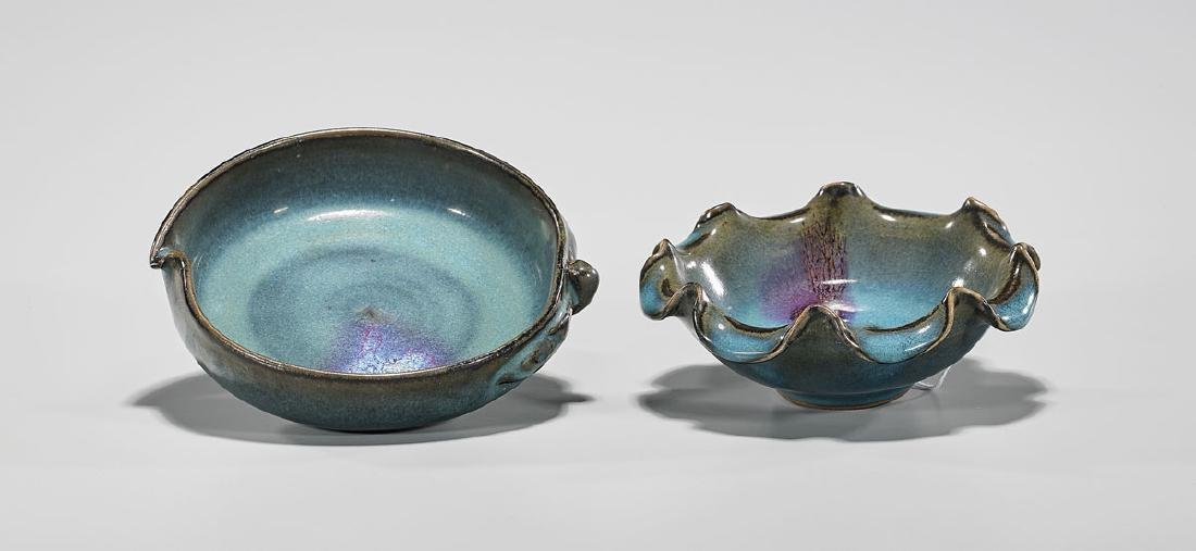 Two Chinese Junyao-Type Bowls