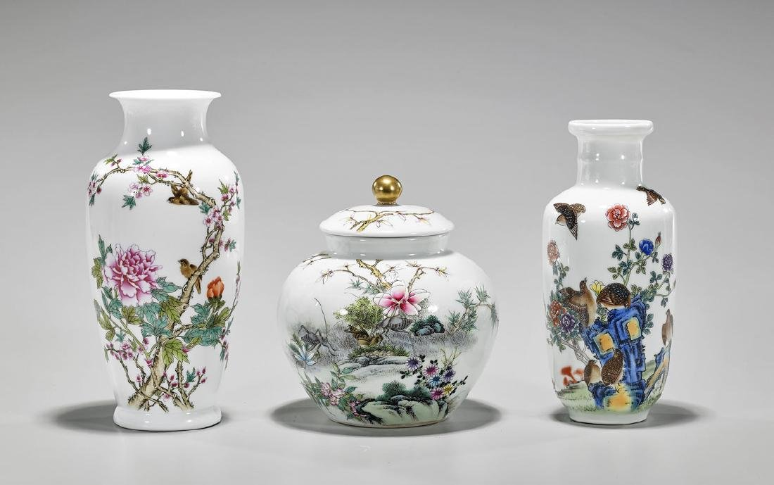 Three Various Chinese Enameled Porcelains