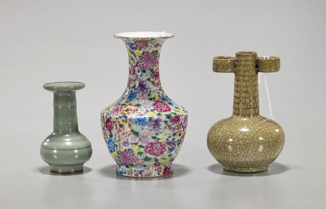 Three Small Chinese Porcelain Vases
