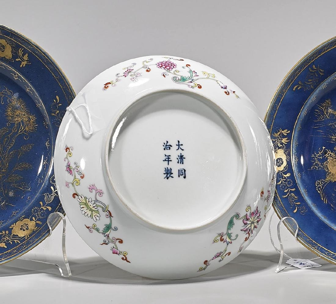 Three Chinese Enameled Porcelain Dishes - 2