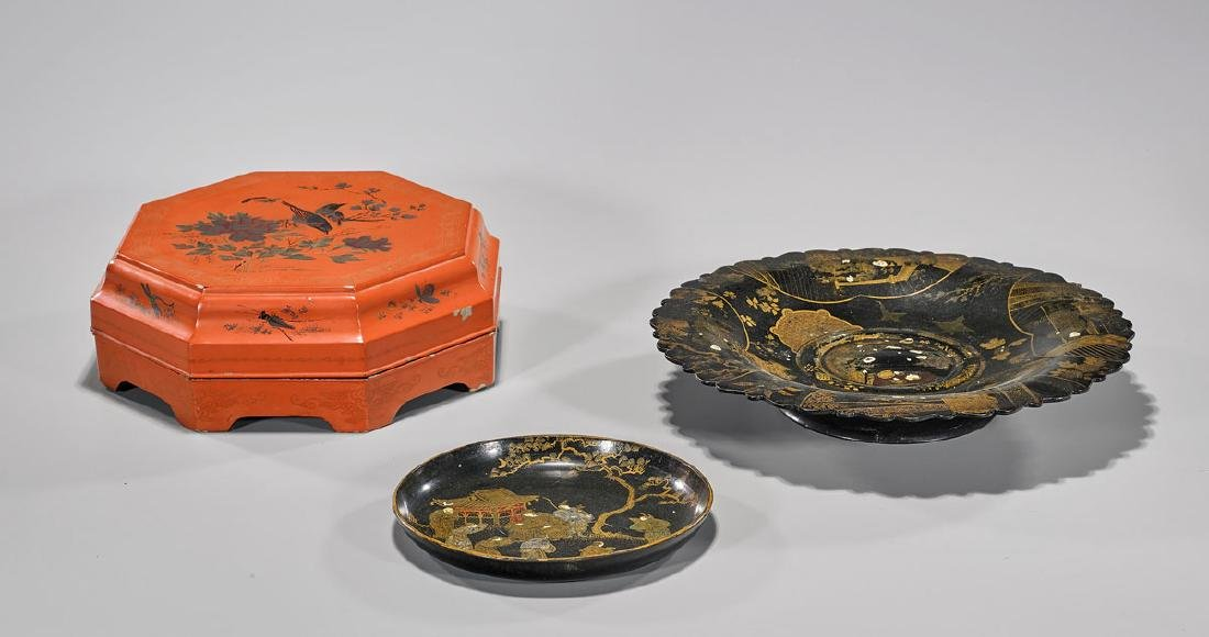 Three Chinese Lacquer Pieces