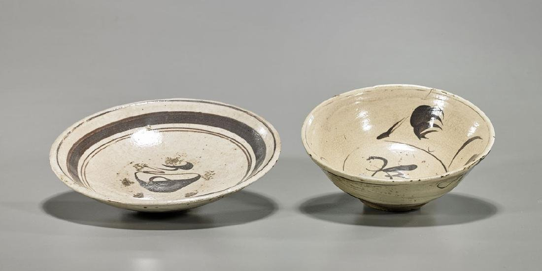 Two Chinese Song Dynasty Ceramic Bowls