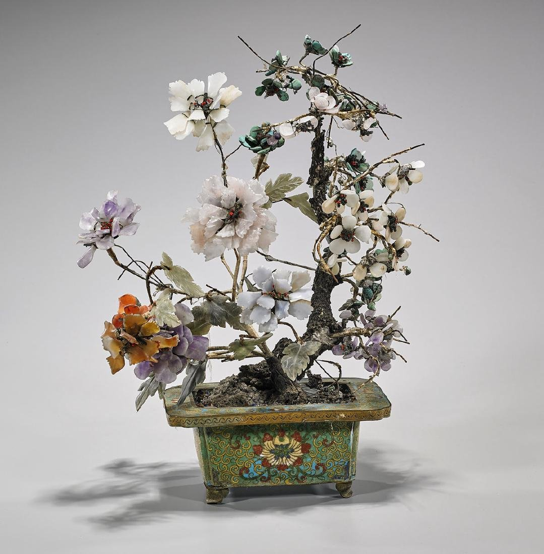 Chinese Flowering Hardstone 'Tree'