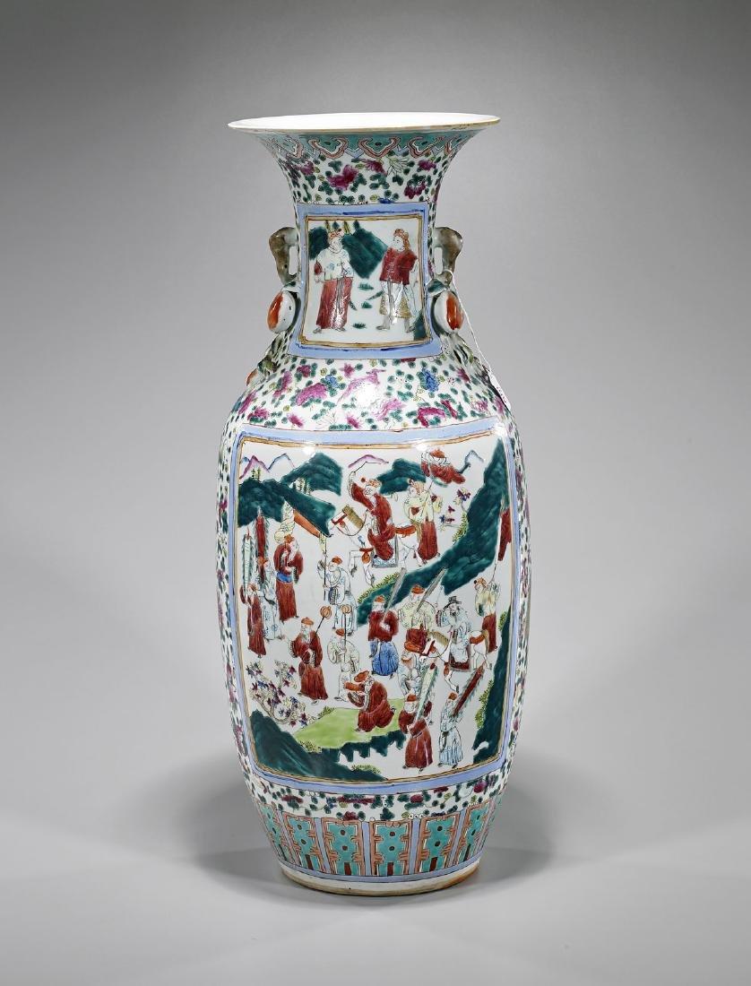 Antique Chinese Famille Rose Enameled Porcelain Vase - 2