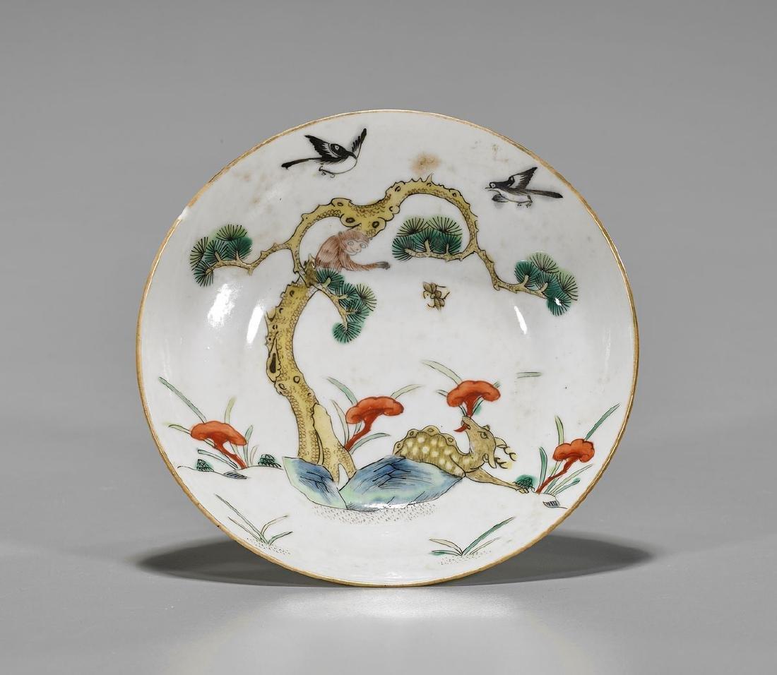 Antique Chinese Enameled Porcelain Dish