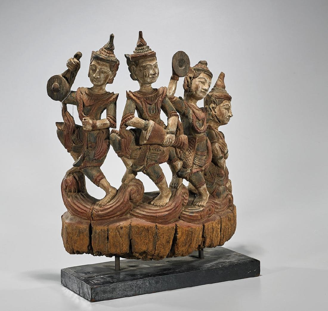 Old Thai Figural Wood Carving - 2