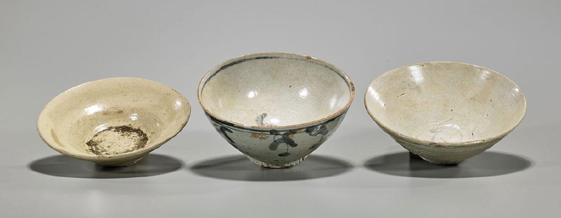 Three Chinese Song Dynasty Ceramic Bowls