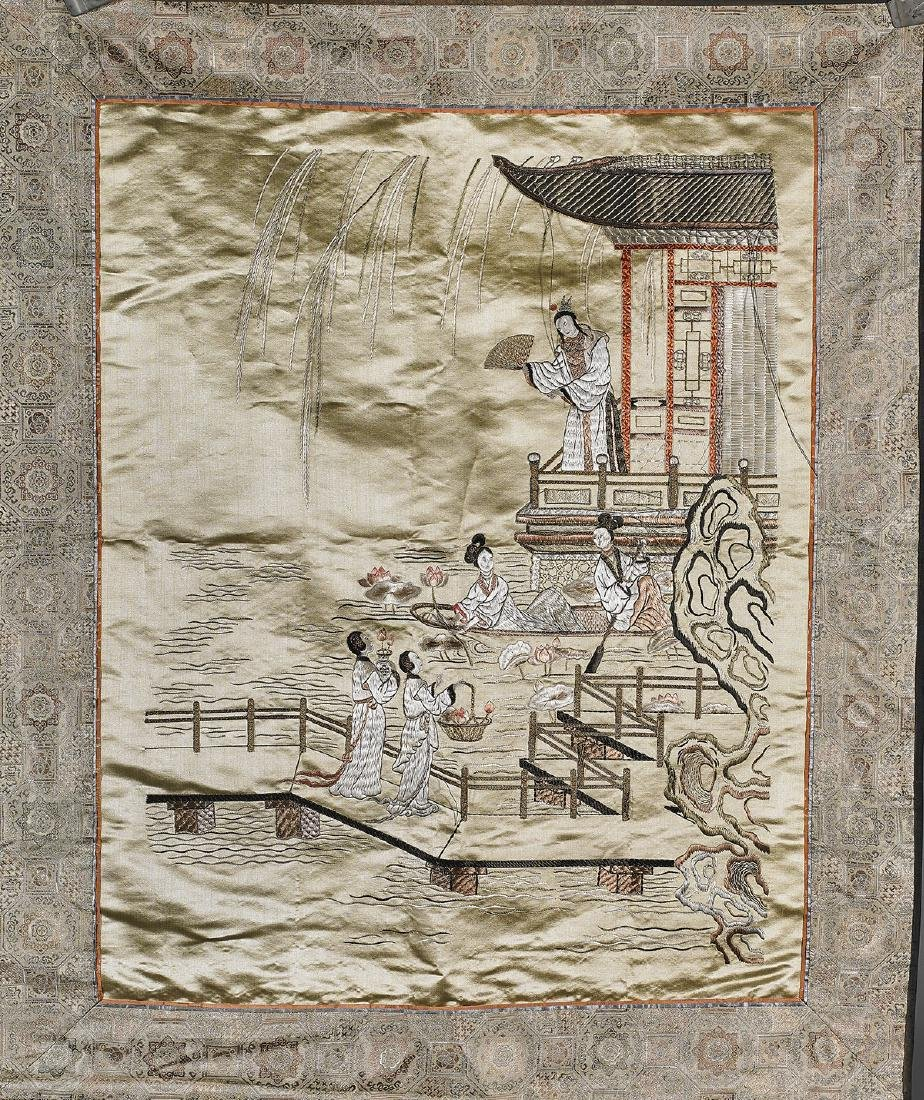 Old Chinese Embroidered Silk