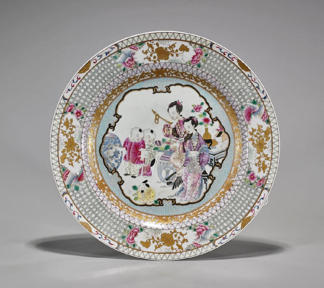 Chinese Famille Rose Enameled Export-Type Porcelain