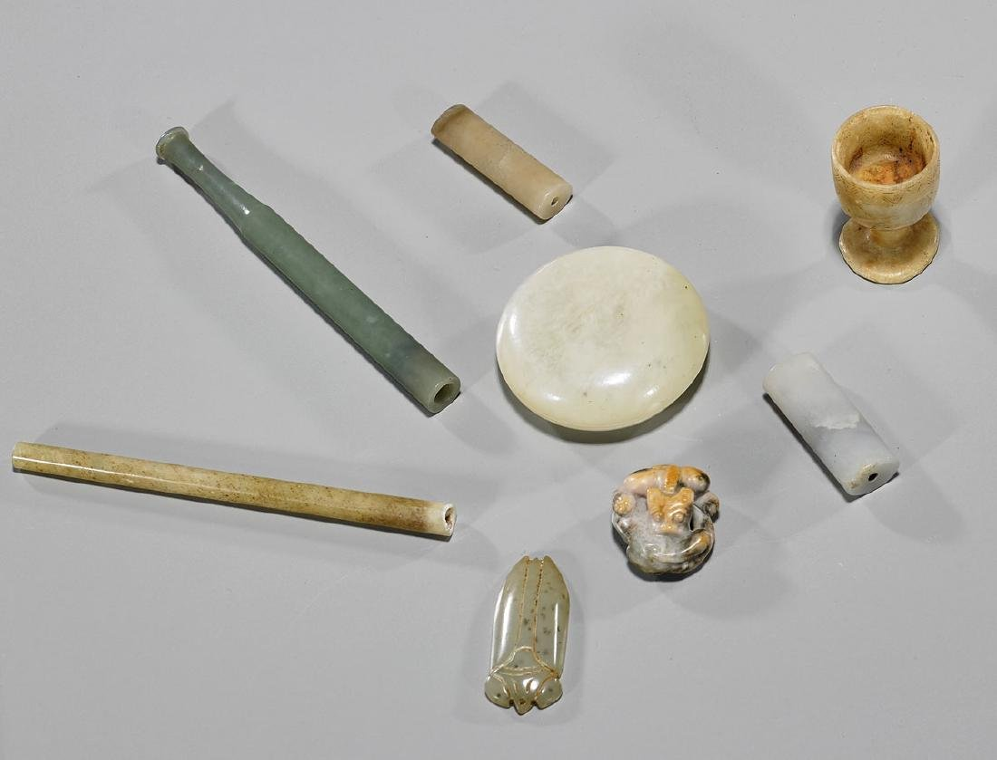 Group of Various Old Chinese Jade & Hardstone Pieces