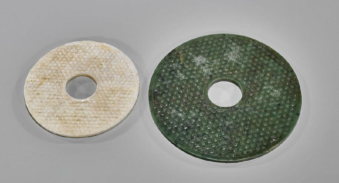 Two Large Chinese Archaistic 'Bi' Discs